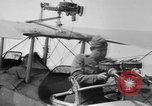 Image of Twin Lewis machine guns installed on DH-4 airplane Scarff ring United States USA, 1918, second 3 stock footage video 65675048411