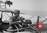 Image of Twin Lewis machine guns installed on DH-4 airplane Scarff ring United States USA, 1918, second 6 stock footage video 65675048411