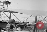 Image of Twin Lewis machine guns installed on DH-4 airplane Scarff ring United States USA, 1918, second 7 stock footage video 65675048411