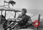 Image of Twin Lewis machine guns installed on DH-4 airplane Scarff ring United States USA, 1918, second 11 stock footage video 65675048411