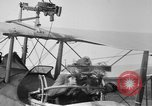 Image of Twin Lewis machine guns installed on DH-4 airplane Scarff ring United States USA, 1918, second 12 stock footage video 65675048411