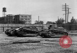 Image of Renault FT tanks Bridgeport Connecticut USA, 1918, second 8 stock footage video 65675048445