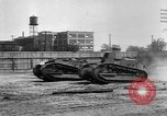 Image of Renault FT tanks Bridgeport Connecticut USA, 1918, second 11 stock footage video 65675048445