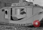 Image of Mark VIII tank testing Bridgeport Connecticut USA, 1918, second 10 stock footage video 65675048447