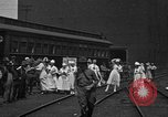 Image of Red Cross Canteen Services rail road car United States USA, 1918, second 8 stock footage video 65675048460