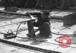 Image of fabricating steel plates for use in ships Italy, 1918, second 8 stock footage video 65675048473