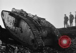Image of British Mk IV tank France, 1918, second 8 stock footage video 65675048478