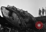 Image of British Mk IV tank France, 1918, second 9 stock footage video 65675048478