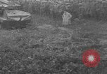 Image of French Tank demonstration for U.S. troops Picardie France, 1918, second 8 stock footage video 65675048480