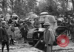 Image of American troops make way for French Renault FT Tanks France, 1918, second 2 stock footage video 65675048483