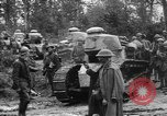 Image of American troops make way for French Renault FT Tanks France, 1918, second 3 stock footage video 65675048483