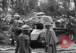 Image of American troops make way for French Renault FT Tanks France, 1918, second 4 stock footage video 65675048483