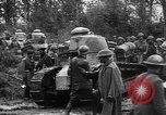 Image of American troops make way for French Renault FT Tanks France, 1918, second 5 stock footage video 65675048483