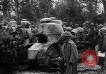 Image of American troops make way for French Renault FT Tanks France, 1918, second 6 stock footage video 65675048483