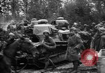 Image of American troops make way for French Renault FT Tanks France, 1918, second 9 stock footage video 65675048483