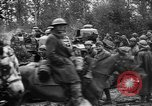 Image of American troops make way for French Renault FT Tanks France, 1918, second 10 stock footage video 65675048483