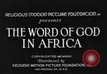 Image of African people Africa, 1931, second 2 stock footage video 65675048504