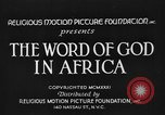 Image of African people Africa, 1931, second 4 stock footage video 65675048504