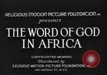 Image of African people Africa, 1931, second 6 stock footage video 65675048504