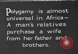 Image of practice of polygamy Africa, 1931, second 1 stock footage video 65675048508