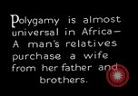 Image of practice of polygamy Africa, 1931, second 8 stock footage video 65675048508