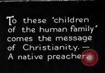 Image of preaching Christianity Africa, 1931, second 1 stock footage video 65675048509