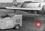 Image of F 84 aircraft Wiesbaden Germany, 1951, second 1 stock footage video 65675048627