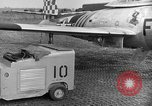 Image of F 84 aircraft Wiesbaden Germany, 1951, second 2 stock footage video 65675048627