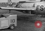 Image of F 84 aircraft Wiesbaden Germany, 1951, second 10 stock footage video 65675048627