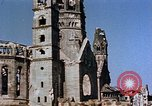 Image of Damaged Kaiser Wilhelm Memorial Church Berlin Germany, 1945, second 7 stock footage video 65675048672