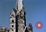 Image of Damaged Kaiser Wilhelm Memorial Church Berlin Germany, 1945, second 10 stock footage video 65675048672