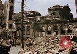Image of damaged building Berlin Germany, 1945, second 9 stock footage video 65675048678
