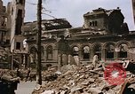 Image of damaged building Berlin Germany, 1945, second 12 stock footage video 65675048678