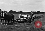 Image of horse drawn binder United States USA, 1919, second 1 stock footage video 65675048700