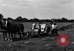 Image of horse drawn binder United States USA, 1919, second 5 stock footage video 65675048700