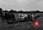 Image of horse drawn binder United States USA, 1919, second 6 stock footage video 65675048700