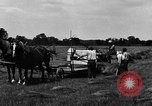 Image of horse drawn binder United States USA, 1919, second 8 stock footage video 65675048700