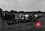 Image of horse drawn binder United States USA, 1919, second 10 stock footage video 65675048700