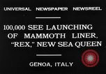 Image of Italian liner Rex Genoa Italy, 1931, second 4 stock footage video 65675048702