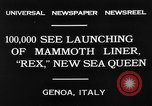 Image of Italian liner Rex Genoa Italy, 1931, second 6 stock footage video 65675048702