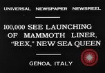 Image of Italian liner Rex Genoa Italy, 1931, second 7 stock footage video 65675048702