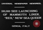 Image of Italian liner Rex Genoa Italy, 1931, second 10 stock footage video 65675048702