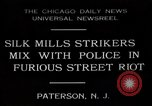 Image of silk mill strikers Paterson New Jersey USA, 1931, second 1 stock footage video 65675048710