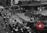 Image of silk mill strikers Paterson New Jersey USA, 1931, second 3 stock footage video 65675048710