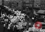 Image of silk mill strikers Paterson New Jersey USA, 1931, second 12 stock footage video 65675048710