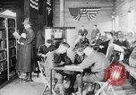 Image of American Army soldiers in YMCA club during World War I European Theater, 1917, second 8 stock footage video 65675048746