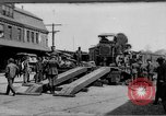 "Image of Military equipment being unloaded from ""Liberty Loan Train."" Richmond Virginia USA, 1918, second 1 stock footage video 65675048756"