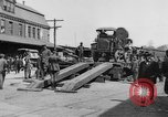 "Image of Military equipment being unloaded from ""Liberty Loan Train."" Richmond Virginia USA, 1918, second 2 stock footage video 65675048756"