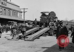 "Image of Military equipment being unloaded from ""Liberty Loan Train."" Richmond Virginia USA, 1918, second 3 stock footage video 65675048756"