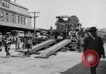 "Image of Military equipment being unloaded from ""Liberty Loan Train."" Richmond Virginia USA, 1918, second 4 stock footage video 65675048756"
